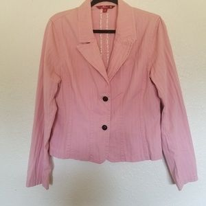 So...  Women's Light Pink Fitted  Blazer